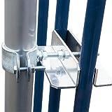 PremiumX SAT-Klemmhalter mit Schelle 100 cm Ø 50 mm ALU Mast Geländerhalter Geländerklemmhalterung Antenne Zaunhalter Balkon-Streben universal Halterung Geländerbefestigung