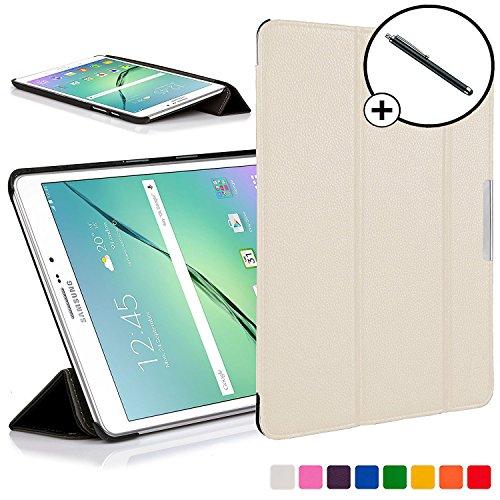 Forefront Cases Samsung Galaxy Tab S2 8.0 Funda Carcasa Stand Smart Case Cover – Ultra Delgado Ligera y Protección Completa del Dispositivo con Función Auto Sueño/Estela + Lápiz óptico (Blanco)