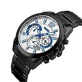 Skmei Full Stainless Steel 50 M Waterproof Chronograph Watch For Men
