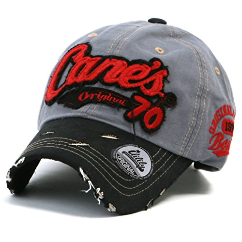 Vintage Vintage Trucker Hut (ililily Distressed Vintage Cotton embroidered Baseball Cap Snapback Trucker Hut (ballcap-507-5))