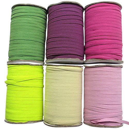 Chenkou craft u pick colorato intrecciato nastro elastico elastici fascia 6mm taglia 18,3m beige