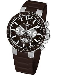 d4d6e79d1d65 Jacques Lemans 1-1696D - Reloj cronógrafo de cuarzo para hombre con correa  de silicona