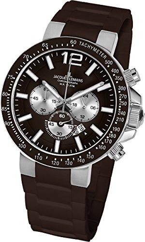 Jacques Lemans Unisex-Armbanduhr Milano Chronograph Silikon 1-1696D