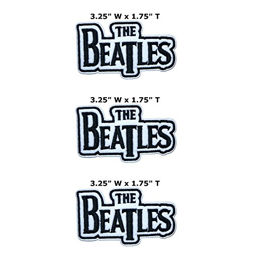 Outlander Outdoor Marke Anwendung The Beatles Band Musik Cosplay Badge gesticktes Eisen oder aufgesetzte Aufnäher Patch 3er Pack Geschenk-Set