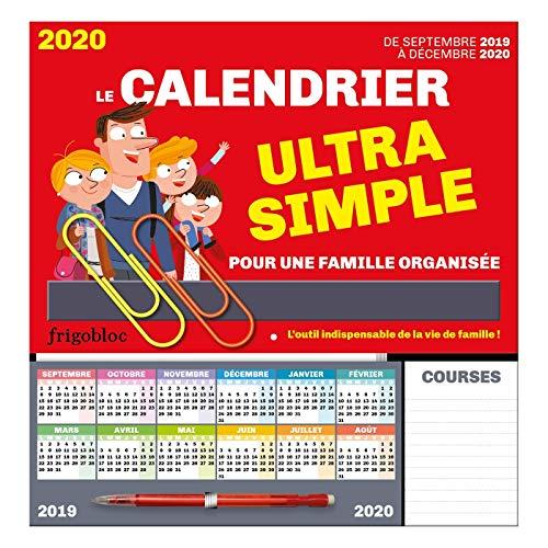 FrigoBloc Le calendrier ultra simple pour une famille organisée ! De Sept 2019 à Déc 2020 par Play Bac