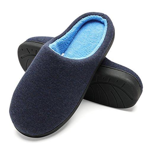 FLY HAWK Pantofole Invernali Uomo in Cotone Peluche da Casa - Ciabatte Inverno in Feltro...
