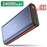 EMNT Portable Charger, 24000mAh High Capacity Power Bank 3 Output USB Type C