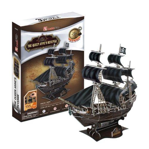 Cubic Fun 3D Jigsaw Puzzle Building Scale Model - Queen Annes Revenge Ship