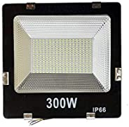 K3 280/288 Big Bright Led Ultra Thin Slim Ip66 Led Flood Outdoor Light Cool White Waterproof (Pack of 6)