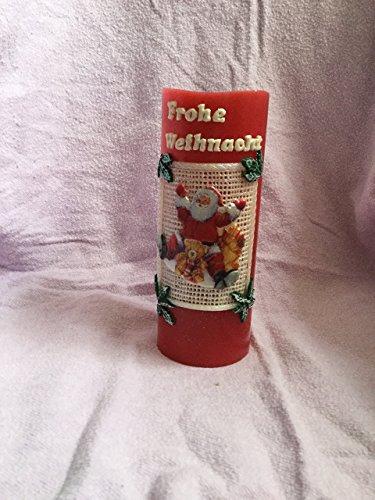 """LED-Stumpenkerze""""Nikolaus im Schnee"""" zu Weihnachten"""