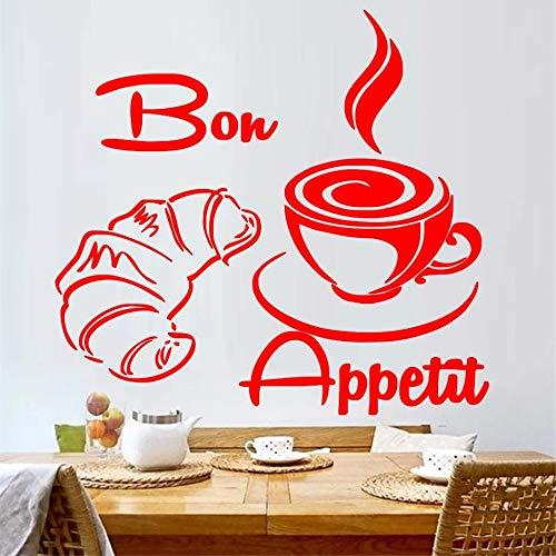 zzlfn3lv Cornetto French Bon Appetite Küche Wandsticker Dekoration Haus Wandkunst 45 x 42 cm