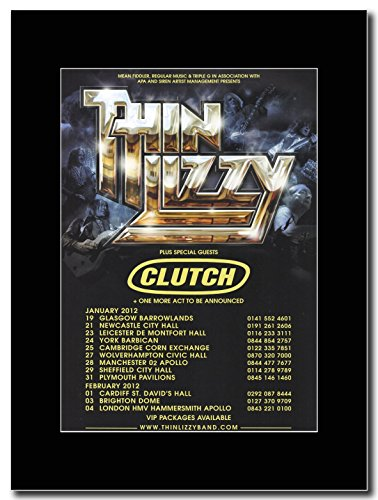 Thin Lizzy & clutch - 2012 UK Tour date Magazine promo su una montatura nero