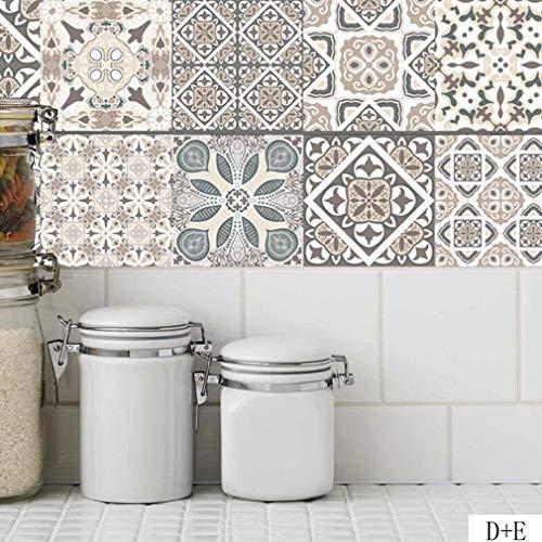 JY ART Cocina Azulejos Pegatinas Vintage Clásico Europeo Baño Impermeable A Prueba...