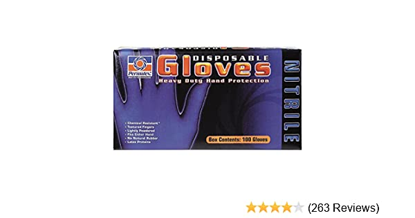 Permatex Disposable Gloves 09184; Medium 4 mil Blue Nitrile Rubber