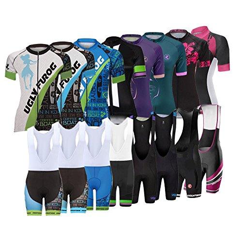 Uglyfrog WCL10 New Sommer Damen schließen Hülsen Zyklus Jersey Kurzarm Fahrradtrikot Fahrrad Hemd Fahrrad Top Radfahren Frauen Trikot (Zyklus-fahrrad-jersey Radfahren)
