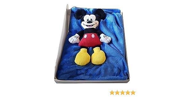 LP Couverture Soft-Polaire Mickey Dimensions 130 x 90 cm Couleur Bleu Mat/ériau 100 /% Polyester