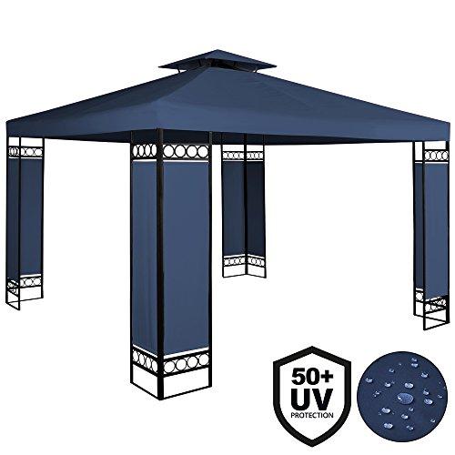 Deuba® Pavillon 3x3m | wasserabweisend | UV-Schutz 50+ | 9m² Festzelt Gartenpavillon | blau
