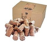 100 neue Weinkorken - Bastelkorken in Karton -...