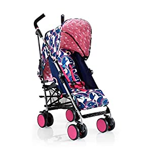 COSATTO Supa Go Stroller (Magic Unicorns) Tutti Bambini SIMPLE ONE HANDED FOLD - Easily and quickly folded with one hand making life simpler whilst you're with your child. LIGHTWEIGHT STURDY - Compact strong frame that is free standing once folded up.