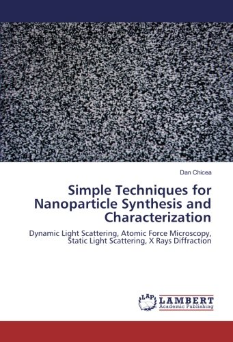Simple Techniques for Nanoparticle Synthesis and Characterization: Dynamic Light Scattering, Atomic Force Microscopy, Static Light Scattering, X Rays Diffraction