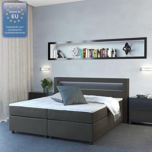 Design Boxspringbett mit LED Beleuchtung Bild 2*
