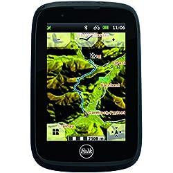 Falk bicicleta dispositivo de navegación GPS capacitiva pantalla 25Países bicicleta, Negro/Rojo, 240036, 0.18 kilograms, color negro, Con tarjeta premium de Alemania y Bluetooth