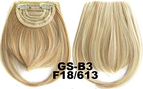 # 18 _ 613 F 100% fibre synthétique haute température Clip dans/sur cheveux avant frange frange cheveux