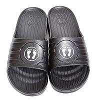 NOTAS Black Slides Slipper For Men