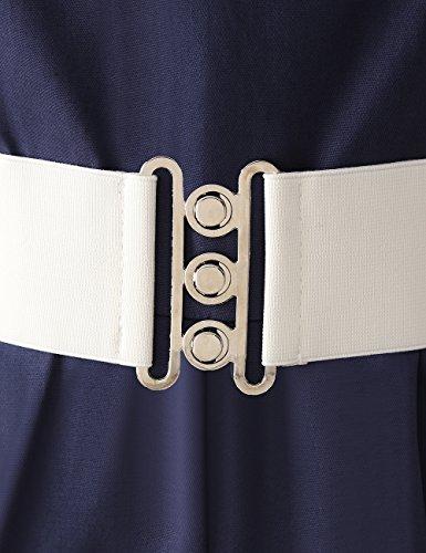 VKStar®Retro Chic ärmellos 1950er Audrey Hepburn Kleid / Cocktailkleid Rockabilly Swing Kleid Marineblau M - 5