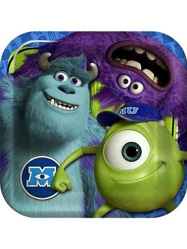 Monster Inc Monster University Party Supplies 8 Large Lunch Plates Birthday by Pixar