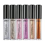 MagiDeal Glitter Eyeshadow - 6 Farben Set Glitzer Lidschatten Augen Schimmer Glitzer Puder zur Kosmetik Make-up von Augen und Nagel Glitzer Eyeshadow Pigment Powder - #A