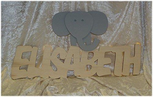 Schlummerlicht24 Veilleuse «Bob l'éléphant» personnalisable avec le nom de votre choix, lampe LED de décoration intérieure, le cadeau idéal pour les fans d'éléphants