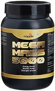 GRF Ayurveda Mega Mass 5000 Whey Protein Supplement - 300 g (Vanilla)