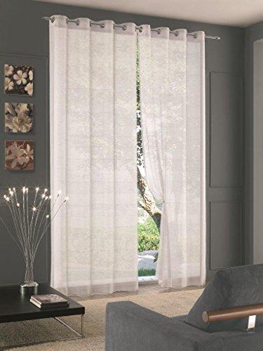 Home Collection GOA115 Tenda Goa, Poliestere, Bianco, 140x290 cm