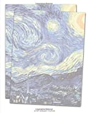 Stationary Paper: Letterhead Paper, Set of 25 Sheets Van Gogh Starry Night Themed for Writing, Flyers, Copying, Crafting, Invitations, Party, Office, Events, School Supplies, 8.5 x 11 Inch