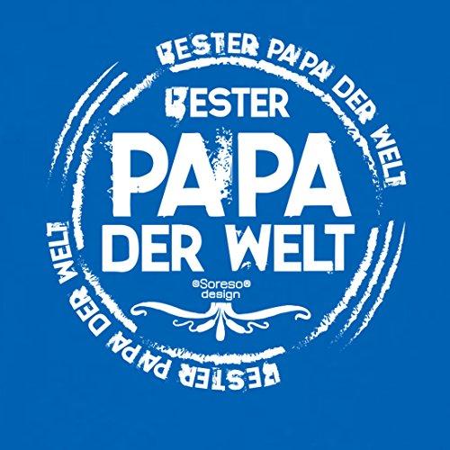 Fun T-Shirt - Super Papa - Das Geschenk zum Vatertag Geburtstag Weihnachten Farbe: schwarz blau-28