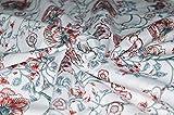 Handgefertigte Baumwoll-Hand Block Print Stoff indischen