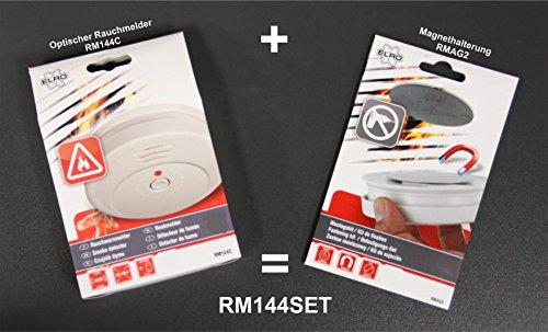4er Set optischer Rauchmelder inkl. Magnethalter, EN 14604, 85dB, RM144C Set-4