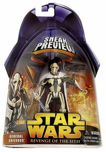 Hasbro Figura 1 de 4 de la revenge de la Sith de la Guerra de las Galaxias Grievas