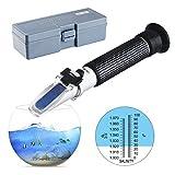 Rifrattometro, Risepro® acquario e acqua di mare Dual scale Hydrometer 0–100PPT & 1.000–1.070salinità densità marine Fishkeeping ATC rhs-10atc