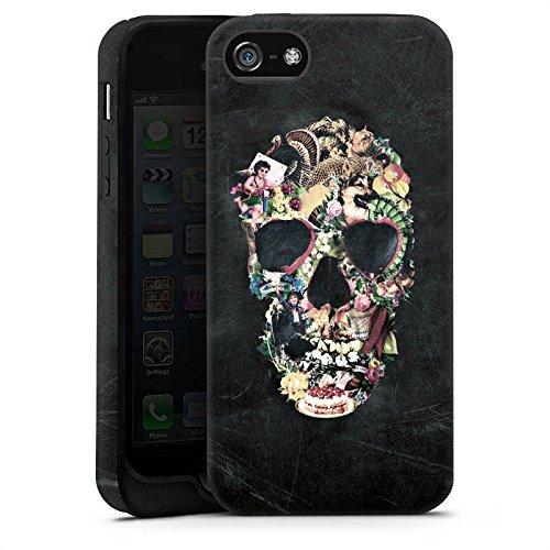 Apple iPhone 5s Housse étui coque protection Crâne vintage Tête de mort Crâne Cas Tough terne