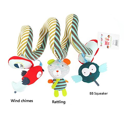 Luxury-uk Soft Book für Kleinkinder Bett Kinderbett Krippe Anhänge, Cartoon Tier Hänge Rassel Kinderwagen Kinderwagen (Eule)