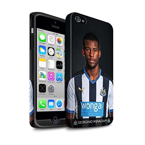 Offiziell Newcastle United FC Hülle / Matte Harten Stoßfest Case für Apple iPhone 4/4S / Pack 25pcs Muster / NUFC Fussballspieler 15/16 Kollektion Wijnaldum