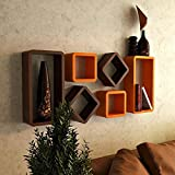 GBdecor Craft Wall Shelf Set of Six Cube...