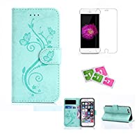 iPhone 6/6s Case, JGNTJLS [New Fashion Styles][with Free Tempered Glass Screen Protector and Cleaning Paper] Simple, Stylish, Embossing-Pattern(Gradient Pure-Colorful, Exquisite-Stripe Design), Suedette-Shell(Silky Touch Fully), Internal-TPU(Soft and Smoo
