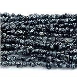 1Strähnen Natur Schwarz Weiß Schneeflocke Obsidian Nugget Perlen Lose freie Form Filet Unregelmäßige Pebble Perlen Passform Jewelry 3x 538,1cm 03949