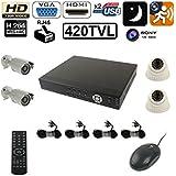Kit de vidéosurveillance IP 4 Caméra CCD Sony 1/4 420 TVL enregistreur