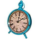 Classique rétro Horloge (24 x 16 cm) horloge de bureau vintage - Grande Horloge...