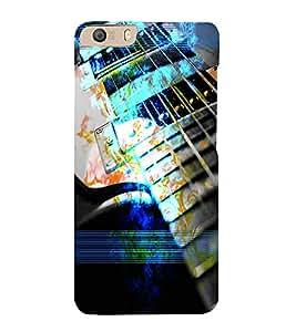 PrintVisa Music Guitar 3D Hard Polycarbonate Designer Back Case Cover for Micromax CanvasKnight2E471