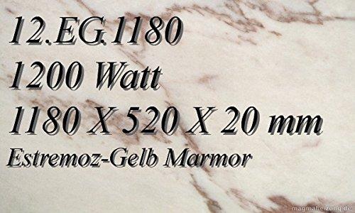 Infrarotheizung Marmorheizung Elektroheizung Infrarotheizkörper Magmaheizung 1200 Watt 12.EG.1180